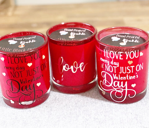 Red Valentines Candles