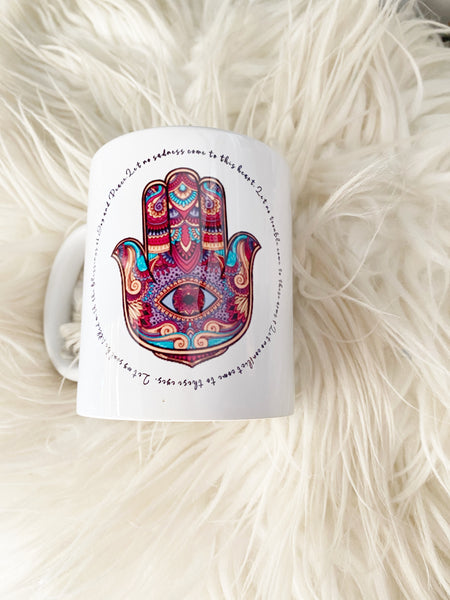Hand of Hasma, or Hand of Fatima Coffee Mug or Keyring
