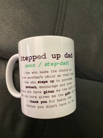 Stepped Up Dad Mug