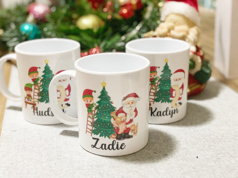 Kids Personalised Christmas Mugs