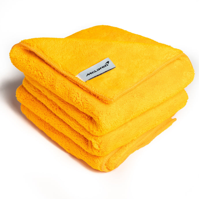 McLaren Luxury Microfibre Cloths - Pack of 3