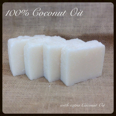 100% Coconut Oil Soap with Shea Butter~ Unscented