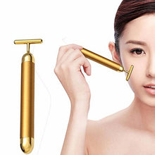 Load image into Gallery viewer, T FACE MASSAGER – 24K GOLD T-BAR