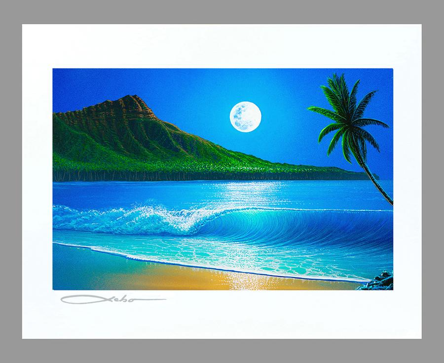 """Blue Hawaii"" Spray Paint Print"