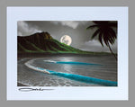 "Load image into Gallery viewer, ""Moon Rise Waikiki"" Spray Paint Print"