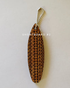 Hawaiian Tribal Surfboard Keychain