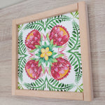 Load image into Gallery viewer, Red Protea Flower Print-Handmade Frame