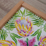 Load image into Gallery viewer, Pink Protea Flower Print-Handmade Frame