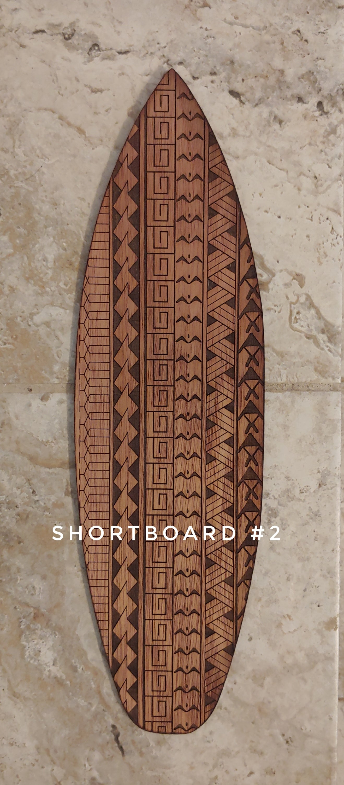 Hawaiian Tribal Surfboard Art 16""