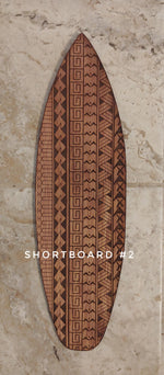 Load image into Gallery viewer, Hawaiian Tribal Surfboard Art 16""