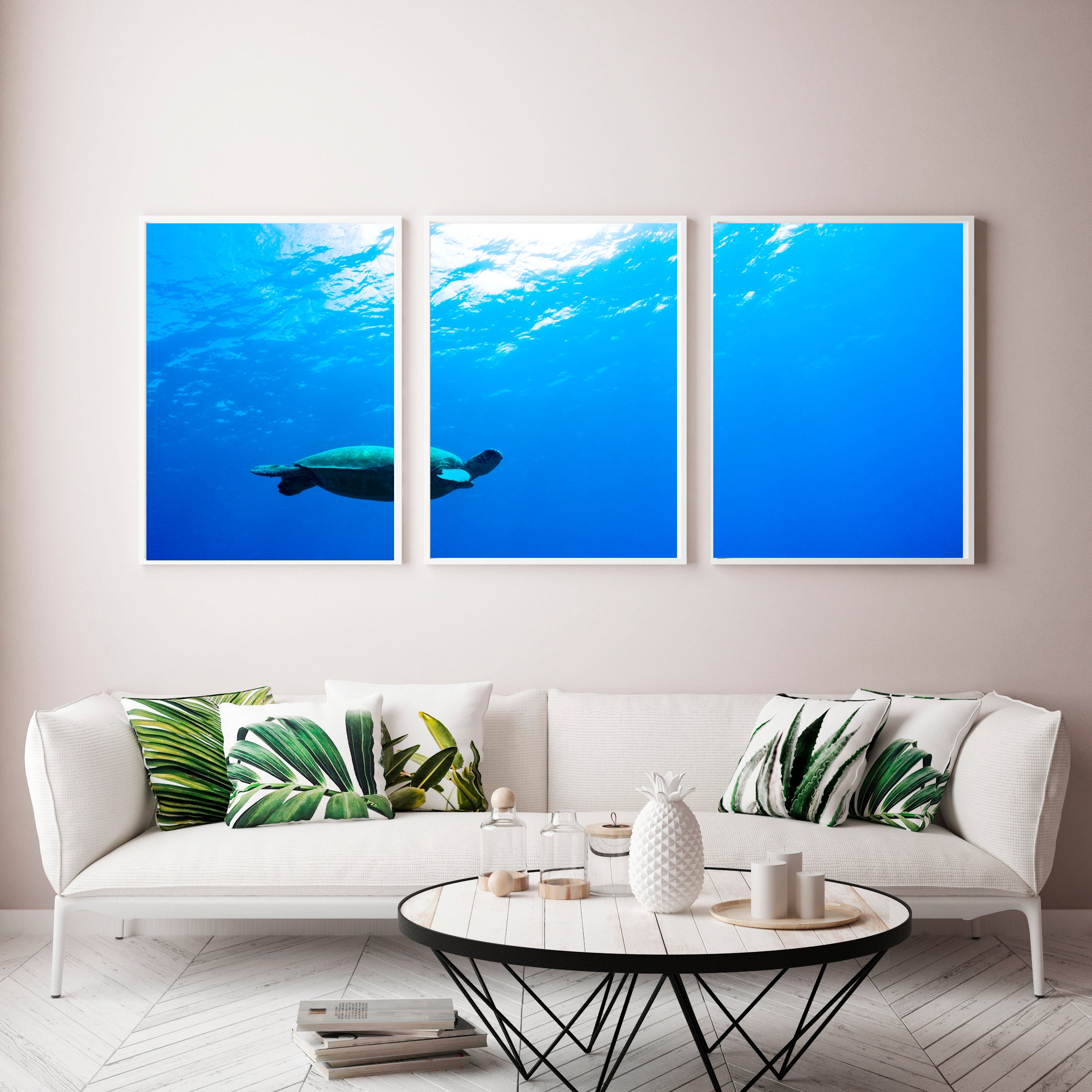 """Blue Happiness"" Triptych"