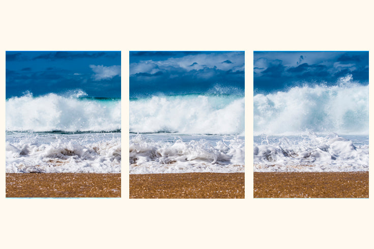 """White Bubbles"" Triptych"