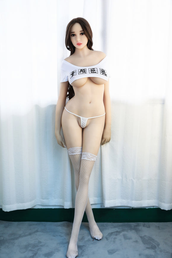 145cm Silicone Sex Dolls Anime Big Breast Sex Doll, Realistic Full Body Adult Love Doll Metal Skeleton, Real Oral Vagina