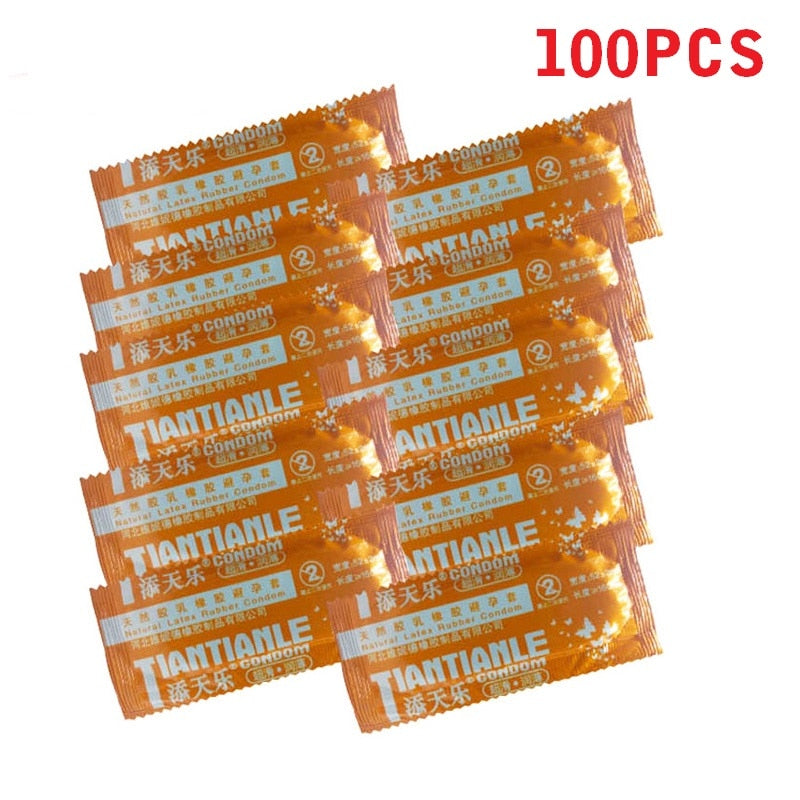 100 Pcs Condoms Adult Large Oil Condom Smooth Lubricated Condoms For Men Penis Contraception Sex Toys Sex Products