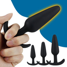 Load image into Gallery viewer, 100% Safe Silicone Dildo Butt Plug Anal Plugs Unisex Sexy Stopper 3 Different Size Adult Sex Toys for Men/Women Trainer Massager