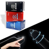 Natural Latex Ultra Thin Hyaluronic Acids Condom 10 Pieces/Box Ice Heat Touch Sex Toys for Men Sex Products