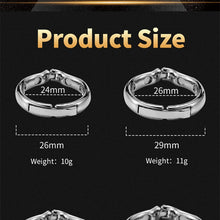 Load image into Gallery viewer, Cock Ring Metal Penis Sleeve For Male Extender Penis Enlargement Condoms Sex Toys Intimate Goods Ring On The Penis