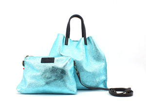 COLOR BAG Borsa + Pochette Turchese MNL-TURK