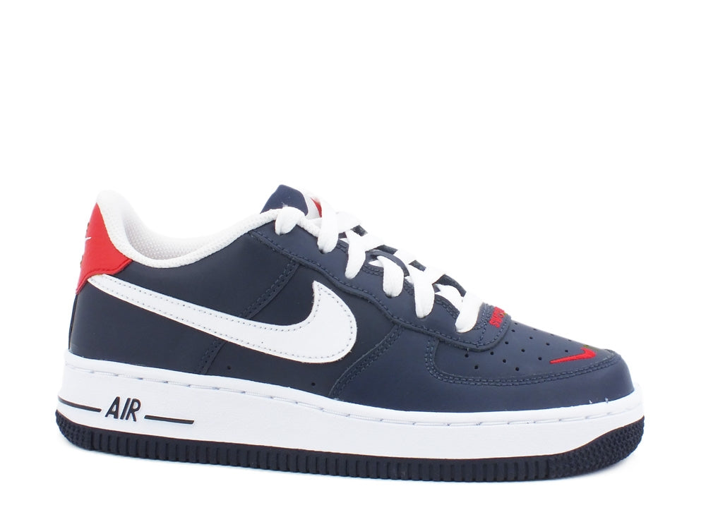 NIKE Air Forche 1 LV8 GS Obsidienne Blanc Rouge CT5531400