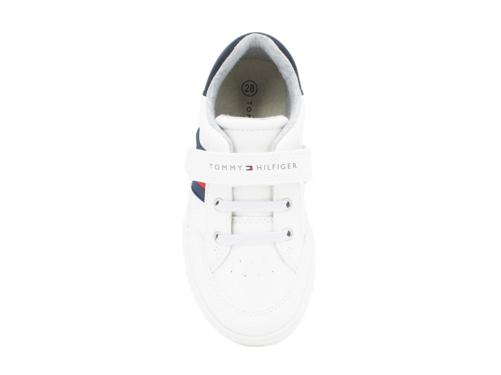 TOMMY H. Sneaker White Blue Red T1B4-30702