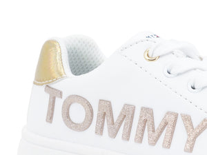 TOMMY H. Sneaker White Gold T3A4-30618