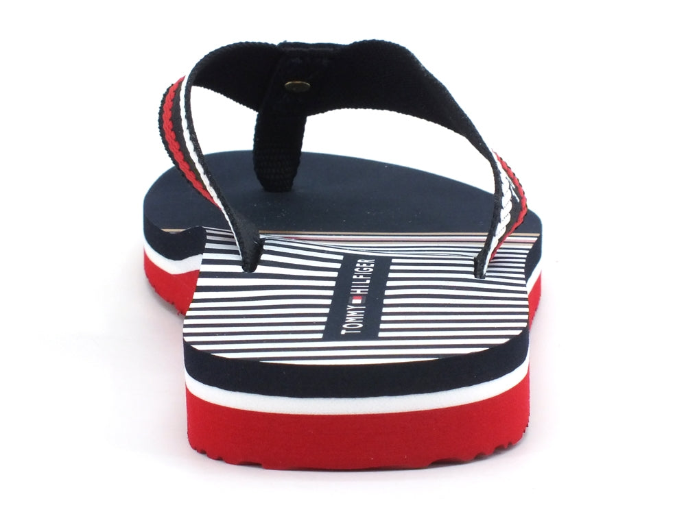 TOMMY HILFIGER Stripy Infradito Red White Blue FW0FW04799
