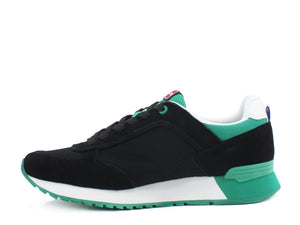 COLMAR Travis Colors Sneakers Black Green TRAVISCOLORS005