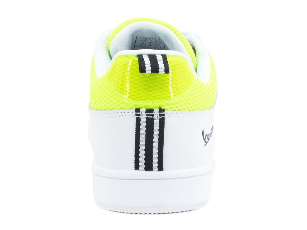 VESPA Festival Sneakers White Yellow Fluo V00013-414-1032