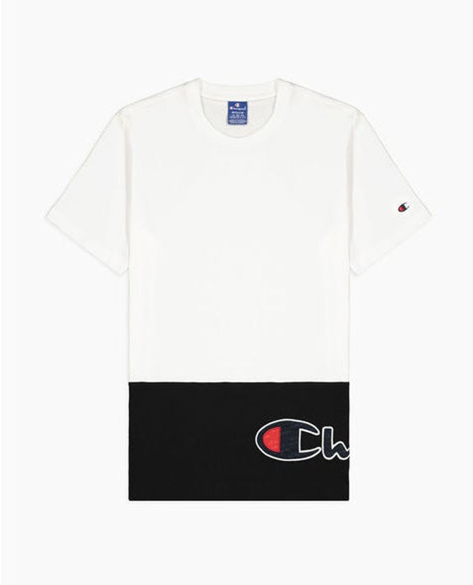 CHAMPION T-Shirt Bicolor White Black 214208