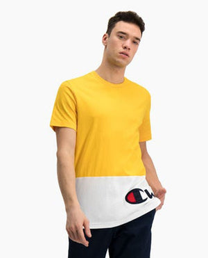 CHAMPION T-Shirt Bicolor Yellow White 214208