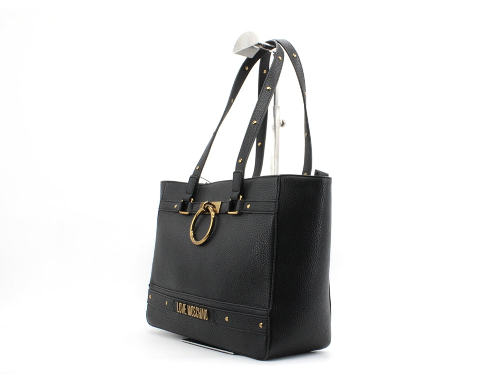 LOVE MOSCHINO Borsa Shopper Borchie Nero JC4062PP1ALR0000