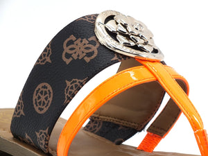 GUESS Ciabatta Loghi Fluo Brown Orange FL6GEAFAL21