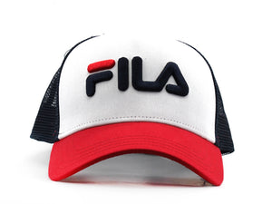 FILA Cappellino Trucker Logo Black Iris Red White 686045
