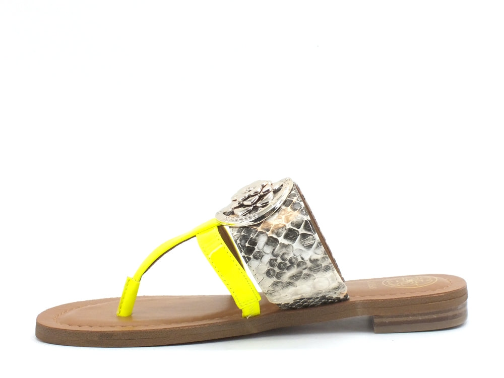 GUESS Ciabatta Infradito Fluo Natural Yellow Fluo FL6GEAPEL21