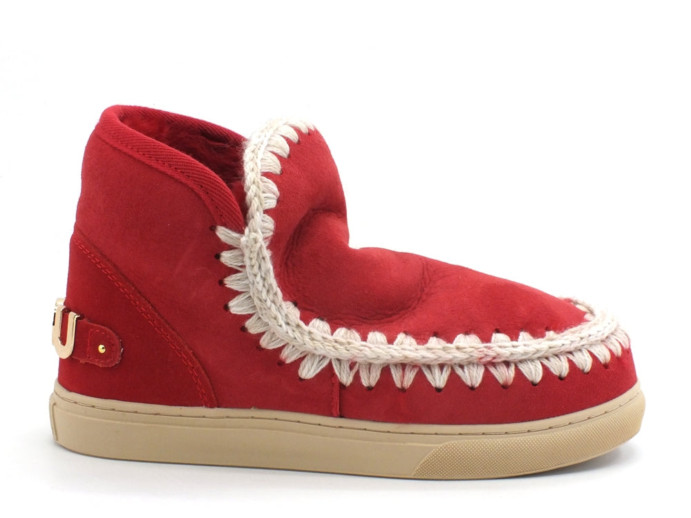 MOU Eskimo Sneaker Big Metal Logo Stivale Pelo Red Chili Pepper MU.FW111008A