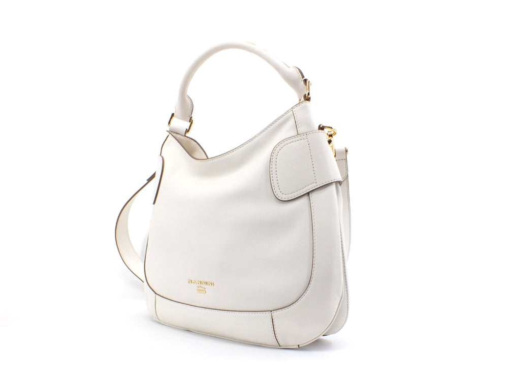 NANNINI Casual Caracas Borsa Bag Pelle Off White 16186
