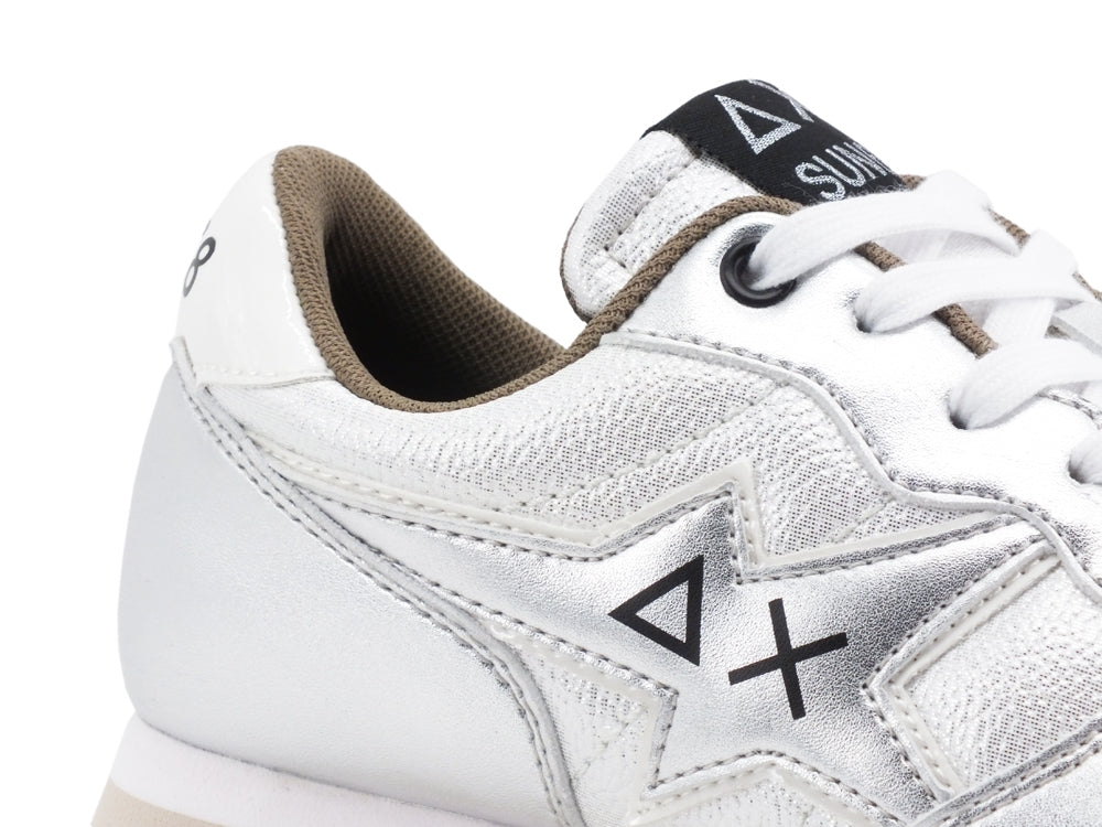 SUN68 Ally Star Sneakers Donna Argento Z40204