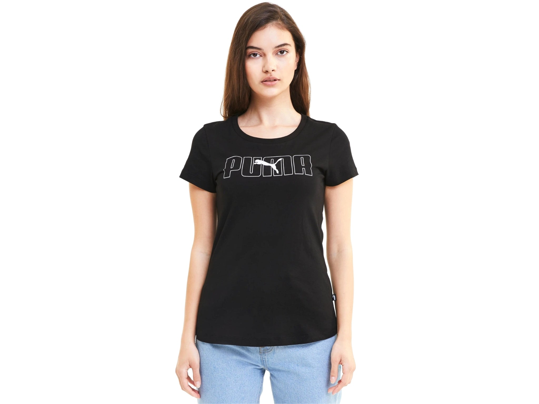 PUMA Rebel Graphic Tee T-Shirt Donna Black 583557 01