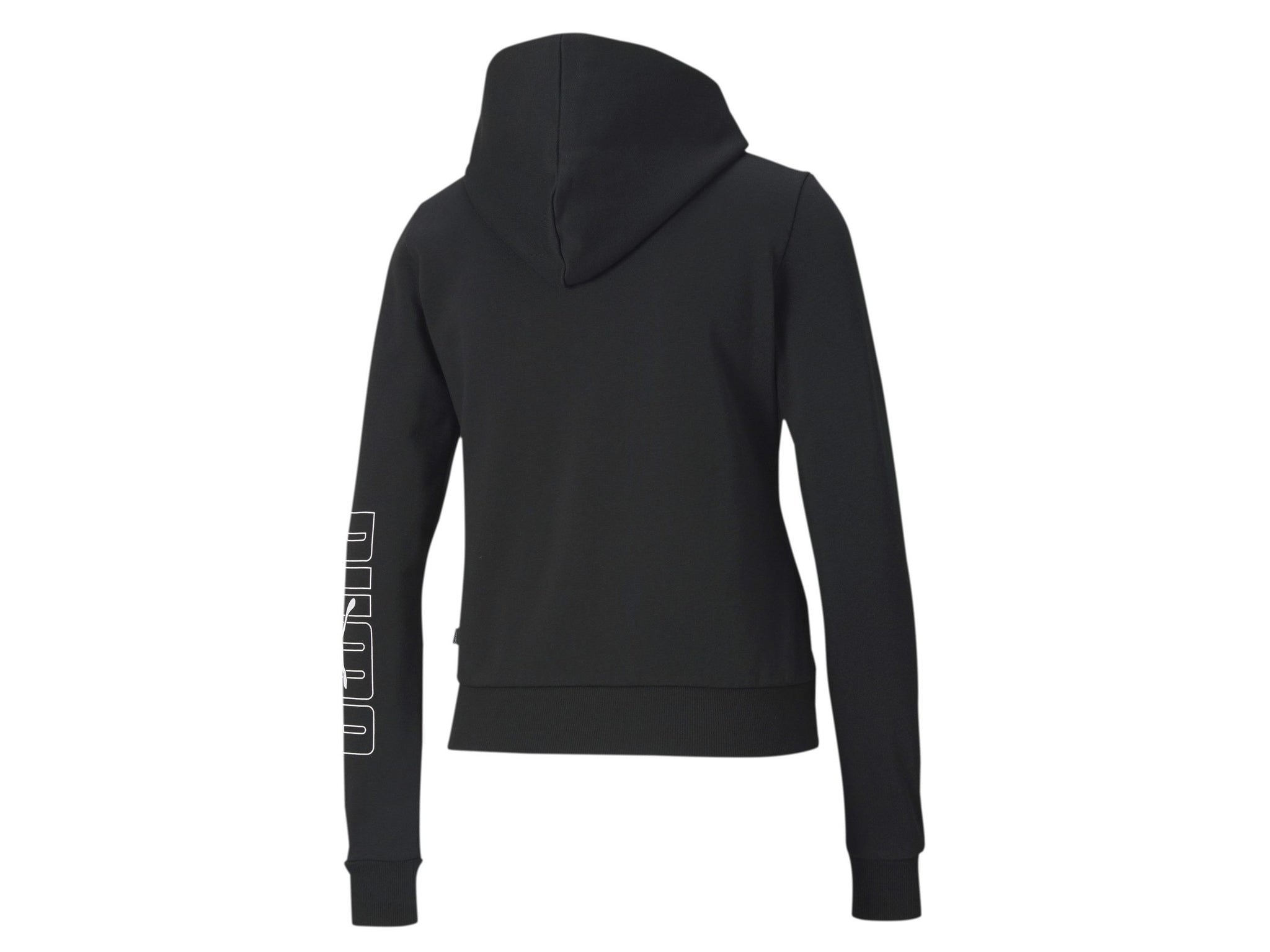 PUMA Rebel Full Zip Hoodie Felpa Donna Black 583567 01