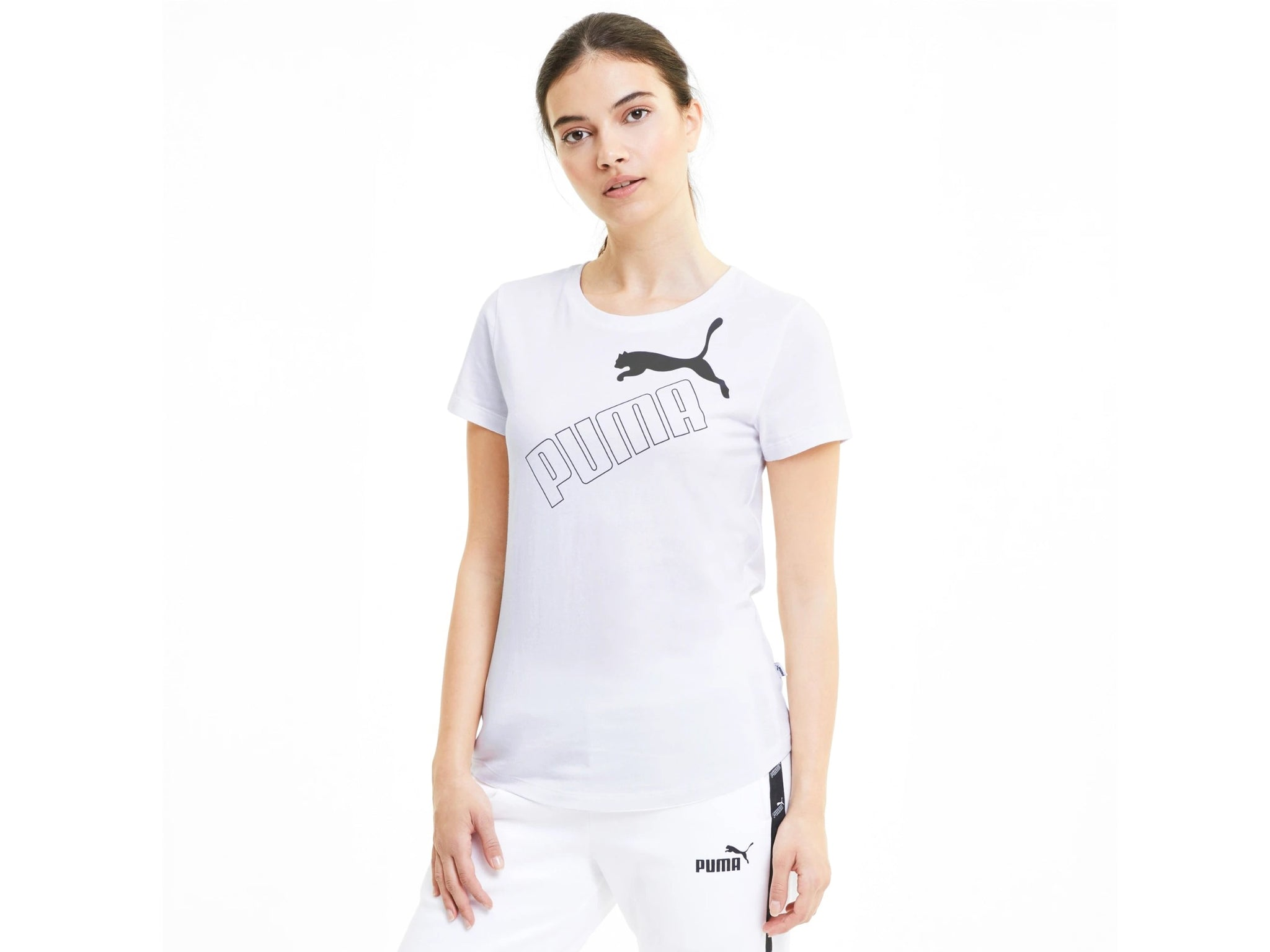 PUMA Amplified Graphic Tee T-Shirt Donna White 583607 02