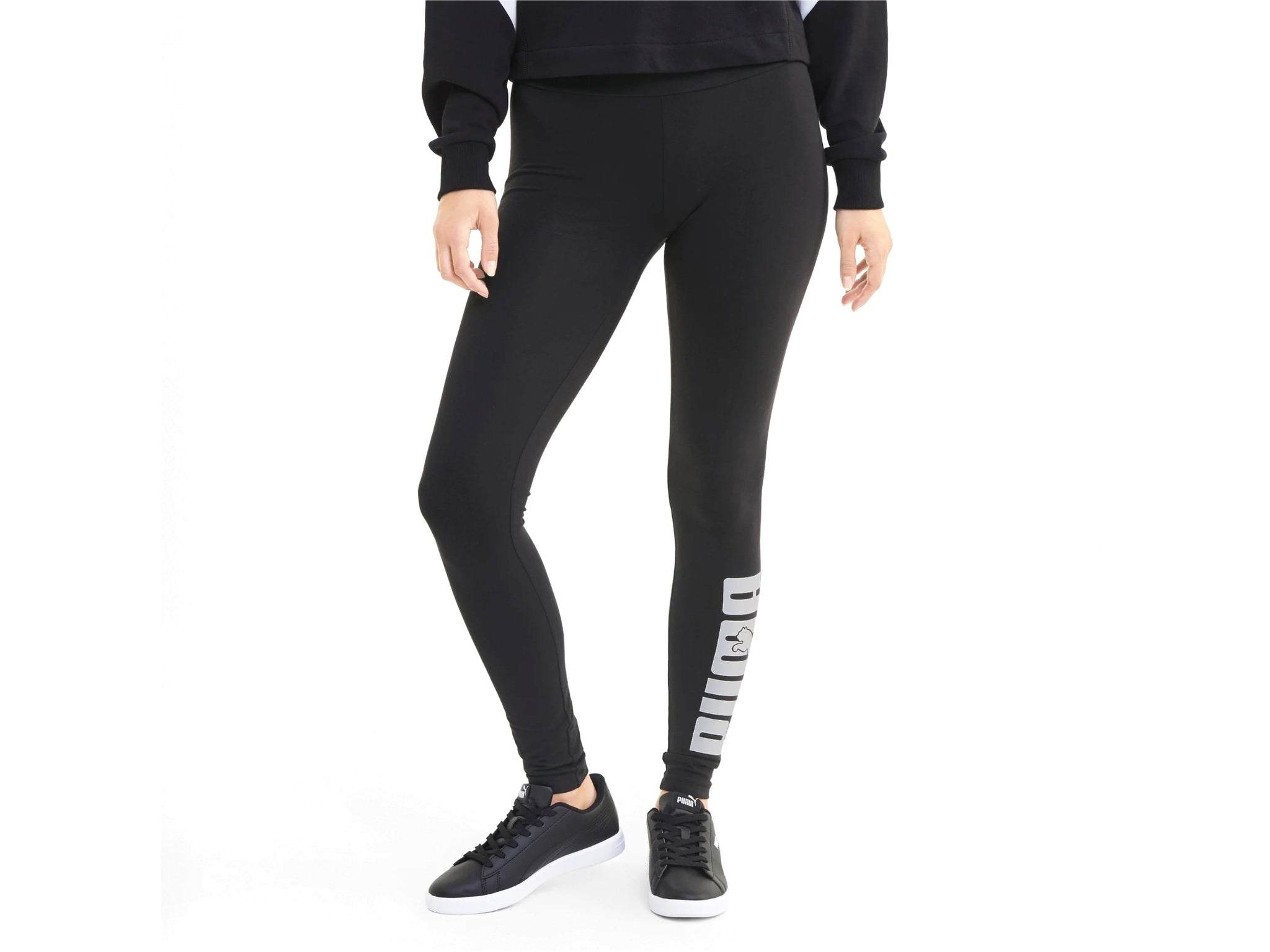 PUMA Rebel Leggings Donna Logo Black 583563 01