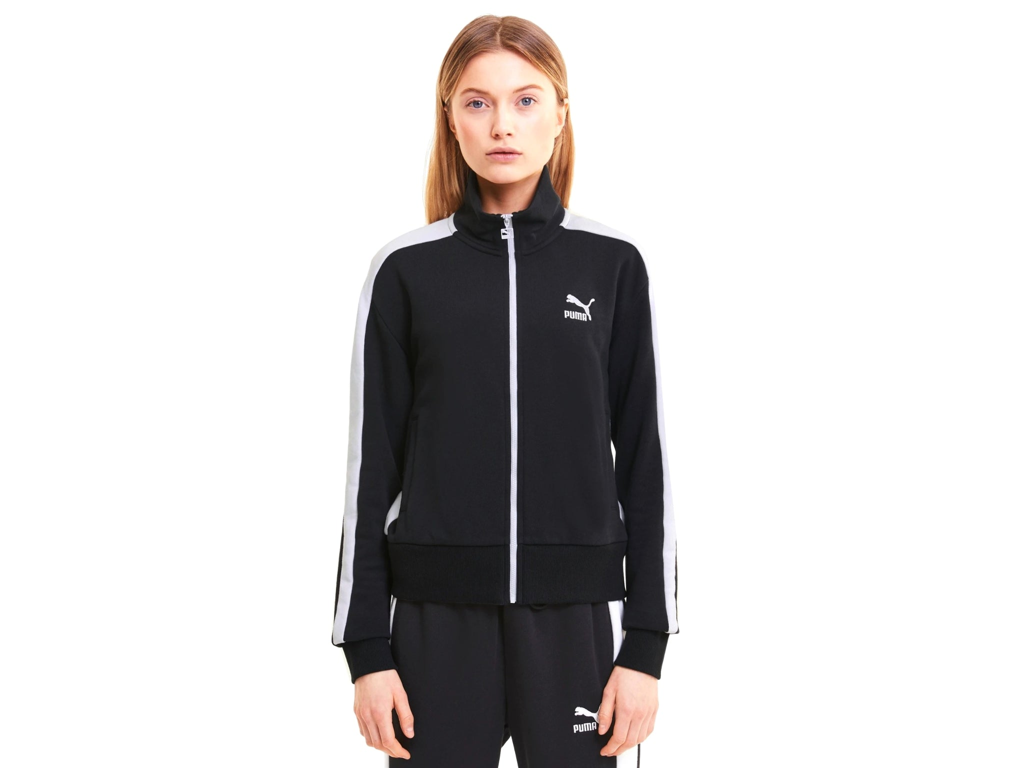 PUMA Classic T7 Track Jacket FT Felpa Zip Donna Black 597651 01