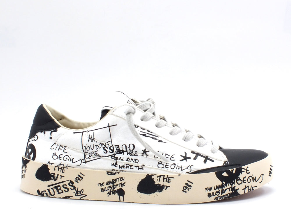 GUESS Lodi Sneakers Graffiti White Black FM8FIRPEL12