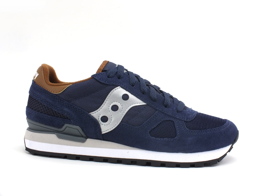 SAUCONY Shadow Sneaker Navy Brown S2108-710