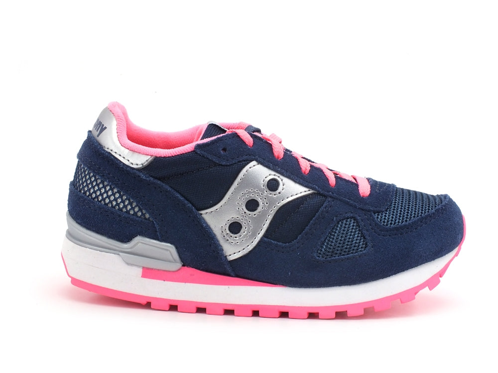 SAUCONY Shadow Original Kids Sneaker Navy Pink SK163867
