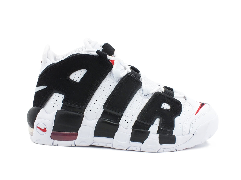 NIKE AIR MORE UPTEMPO (GS) Sneaker Scottie Pippen Blanc Noir Rouge 415082105