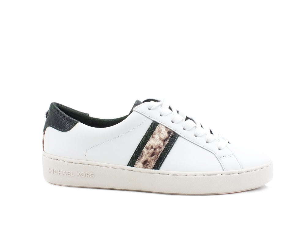 MICHEAL KORS Irving Stripe Lace Up Sneaker Pitone Optic White Multi 43FOIRFS9L