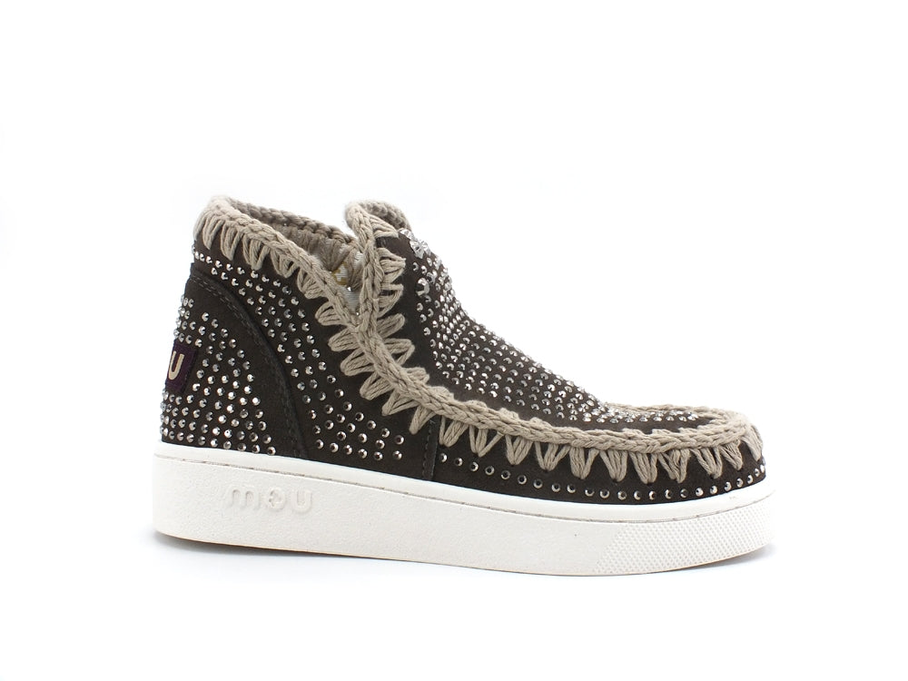 MOU Sneaker Low Cut Summer With Hot Fix Charcoal Strass MU.SW211002A