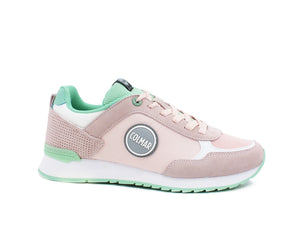 COLMAR Travis Colors Sneaker Donna Running Bicolor Light Pink Water Green TRAVISCOLORS136