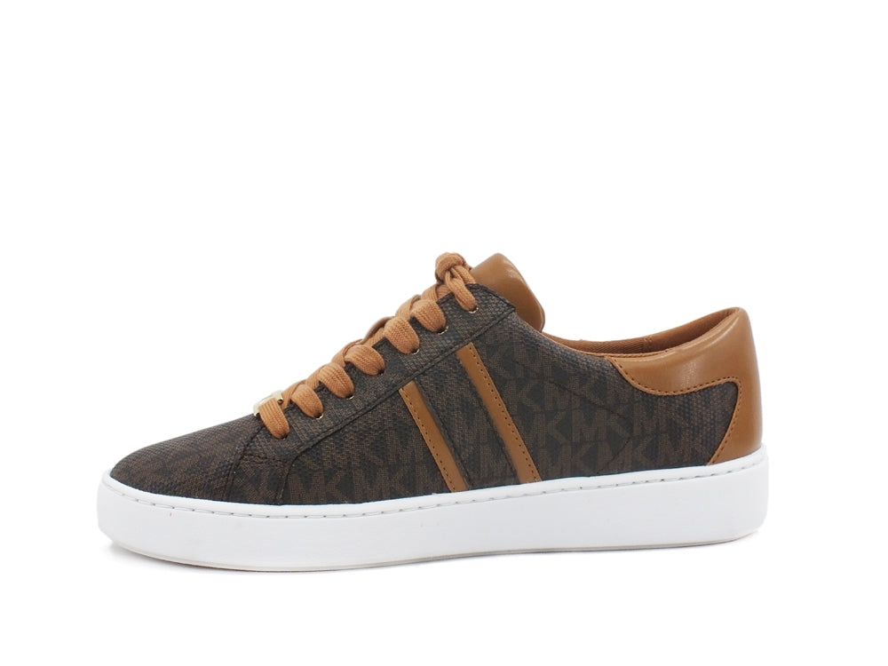 MICHEAL KORS Keaton Stripe Sneaker Unlied Brown 43R1KTFS2B